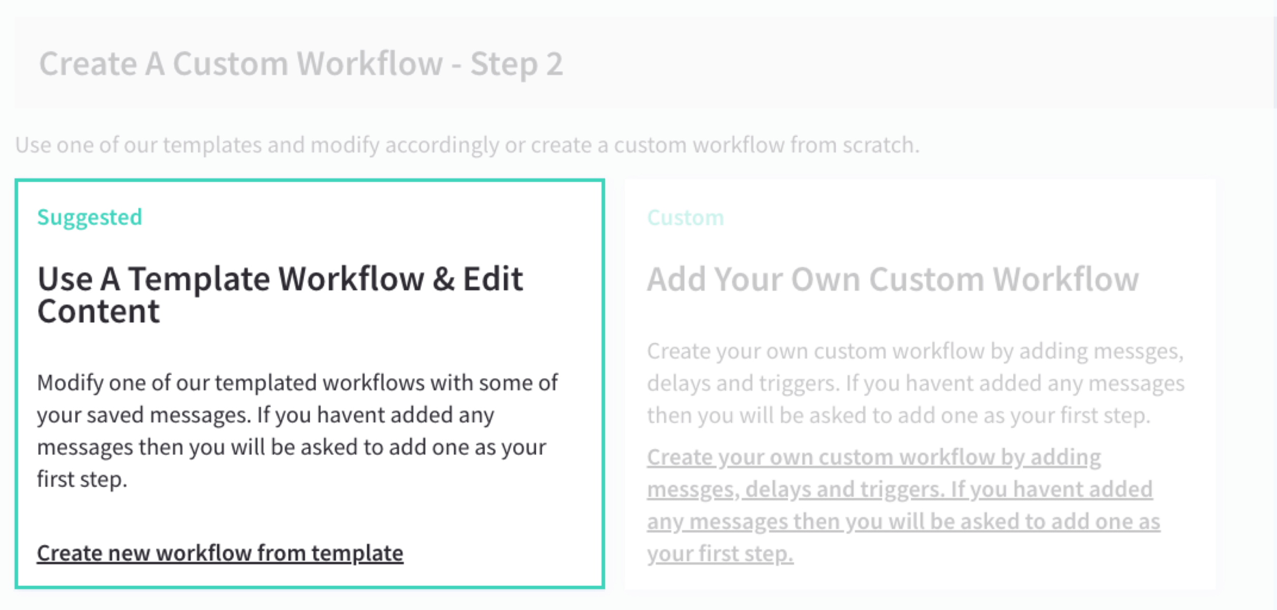 Create A Custom Workflow