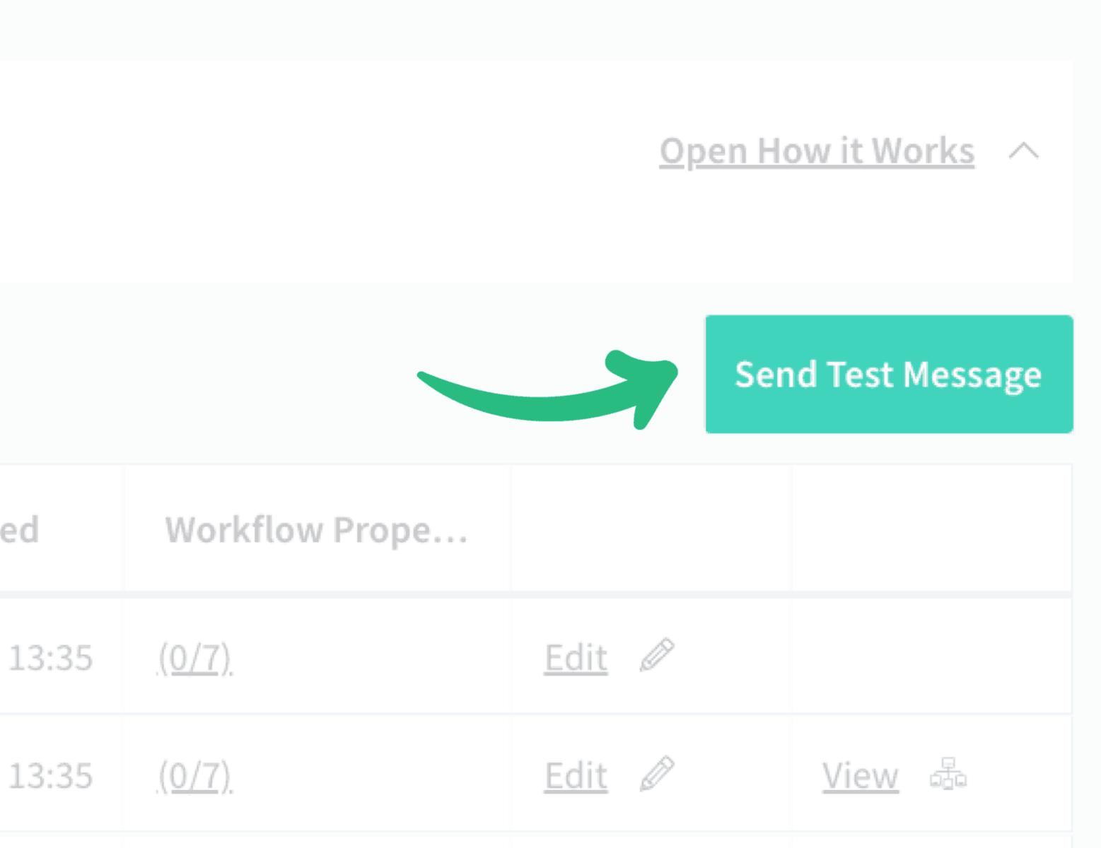 Sending a test message