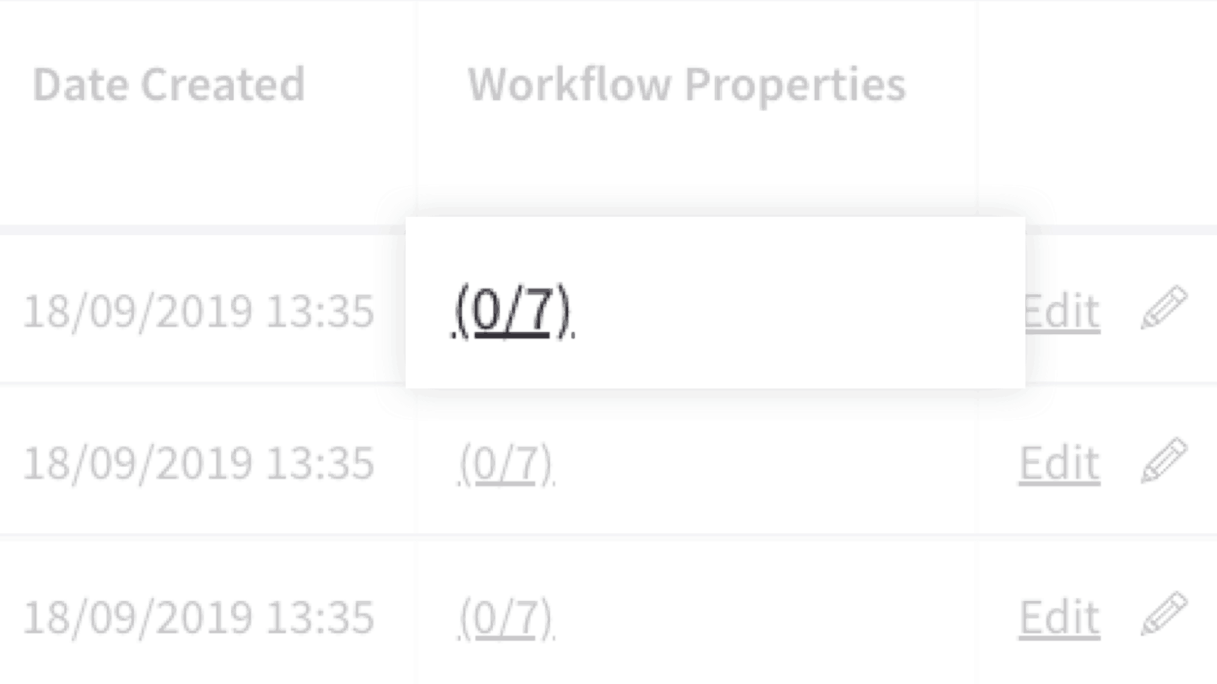 Selecting a workflow to apply to a property