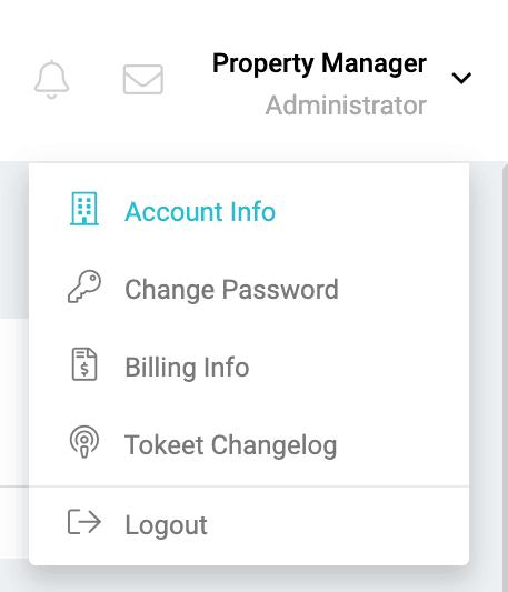 Profile menu items